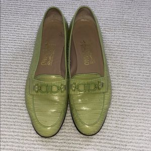 Green Ferragamo Shoes